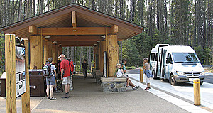 Glacier National Park offers visitors free shuttle rides along Going to the Sun Road. (NPS Photo)
